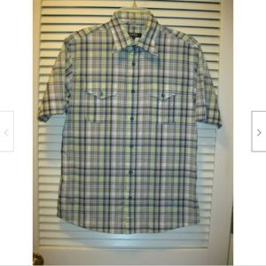 Burberry Black Label Tartan Plaid Shirt Men's Sz 2